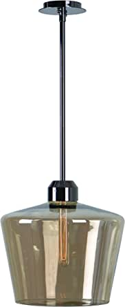 kenroy 家庭93561abra 1灯吊坠带玻璃灯罩