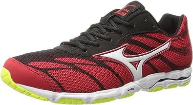 Mizuno Men's Wave Hitogami 3 Running Shoe Chinese Red/White / Black