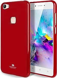 GOOSPERY Marlang Vivo X6 手机壳,免费屏幕保护膜【贴合】TPU 手机壳【灵活】珍珠果冻【保护】Vivo X6 手机壳 红色