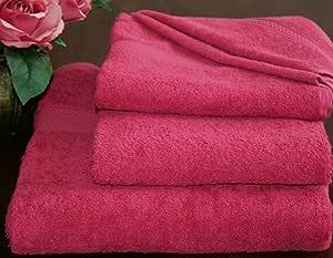 Blueberry Internationals 埃及长绒棉毛巾套装,两条毛巾 - 一件浴巾和一件手洗 粉红色