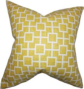 "枕头系列 Janka 几何图案欧式枕套黄色 黄色 King/20"" x 36"" KING-rob-catscradle-sunshine-c1"