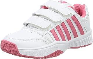 K-Swiss 船鞋 SMASHSTRPOMNI 白色/PINKLEMOND 2.5 JR UK,中性款儿童,白色/粉色,35 欧码