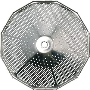 "Paderno World Cuisine Sieve 5 夸脱不锈钢食品研磨器,0.16 英寸穿孔 银色 1/16"" (1 1/2mm) 42570-91"