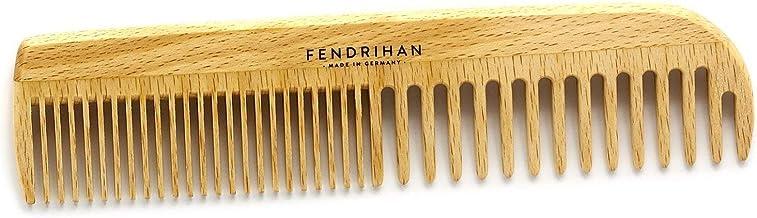 Fendrihan Beechwood 男士梳子 帶圓形牙齒 17.78 厘米(德國制造)