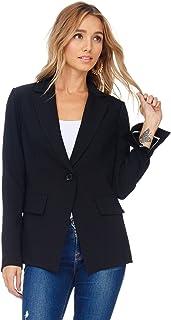 A+D 女式休闲版型翻领办公室夹克带开叉袖