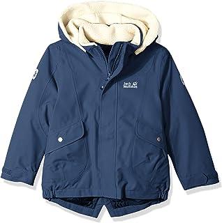 Jack Wolfskin 女童大熊防水夏尔巴保暖夹克 Size140(9-10) 蓝色 1606832-1165140