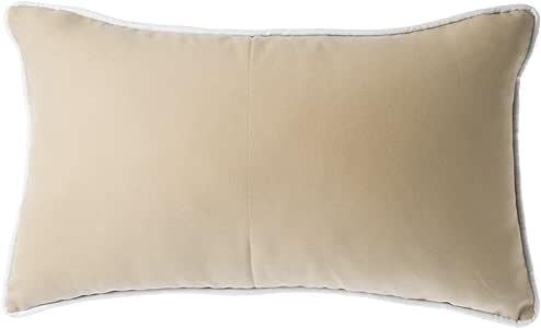 Belssia 垫子,棉和羊毛,驼色和鲜亮白色,5 X 50 X 30 厘米