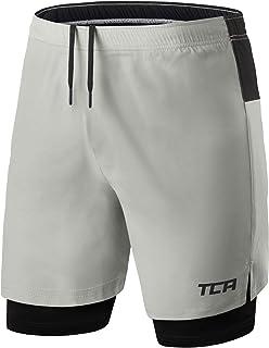 TCA 男式 Ultra 2 合 1 跑步短裤内压缩短拉链口袋