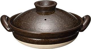 长谷制陶(Nagatani Seitou) 陶锅 茶色 265cm 长谷园 伊贺土锅 美国釉 中(2-4人用) NNM-32
