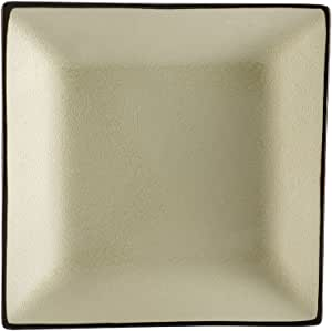 CAC China 6-S21-W Japanese Style 11-1/2-Inch Creamy White Square Plate, Box of 12