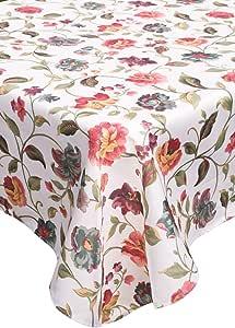 "Korway 厚重花朵花卉图案布样方形和矩形/长方形桌布 A4 Rectangle 55""x 84"" 43237-18916"
