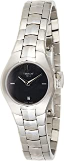 Tissot T0960091112100 T-圆形女士手表 - 黑色表盘
