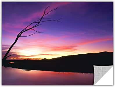 ArtWall Appealz Dean Uhlinger 'Gila River Sunset' Removable Graphic Wall Art, 18 by 24-Inch