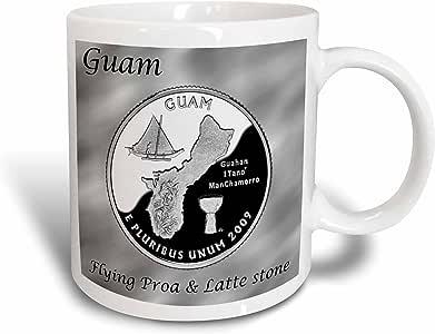 3dRose mug_120167_1 Territories Quarter Guam Ceramic Mug, 11-Ounce