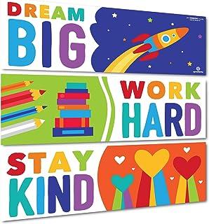 Sproutbrite 课堂装饰 - 教师的横幅和海报 - 公告板和墙饰 适用于学前、小学和中学