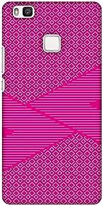 amzer 修身设计师扣紧式硬壳保护套后盖带屏幕护理套装适用于华为 P9LITE Carbon Fibre Redux Hot Pink 6