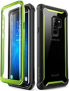 SAMSUNG GALAXY S9+ PLUS 手机壳 i-blason [ ARES ] 全包透明防撞保护套内置屏幕保护适用于 SAMSUNG GALAXY S9+ PLUS 2018版 绿色