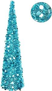 YuQi 1.5 m 人造树折叠支架【透明 > 70%】 可重复使用圣诞节、派对、下一新年、婚礼、季节性家居装饰和聚会