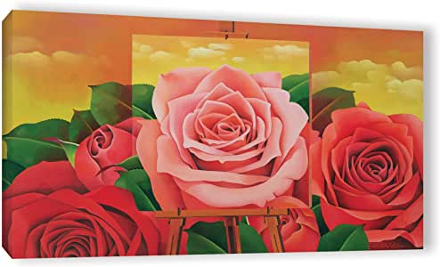 "ArtWall Myung-Bo Sim's The Rose 2004 Gallery Wrapped Canvas Artwork, 12"" x 24"""