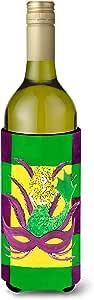 Caroline's Treasures 8162-Parent Mardi Gras Blonde Mermad 带面罩超饮料隔热器适用于苗条罐 8162MUK,多色 多种颜色 750 ml 8162LITERK