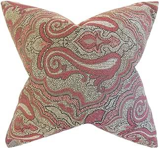 枕头系列 Wystan 锦缎枕头,红色