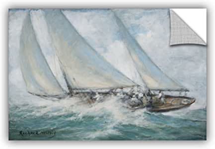 "ArtWall Richard Willis's Classic Yacht 'Twixt Wind and Water' Removable Mural Wall Art, 24"" x 32"""