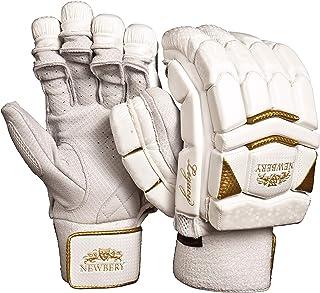 Newbery Cricket 中性青少年传统击球手套,白色/金色,青少年