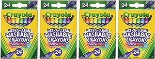 Crayola 可水洗蜡笔,24支(4包),共96支
