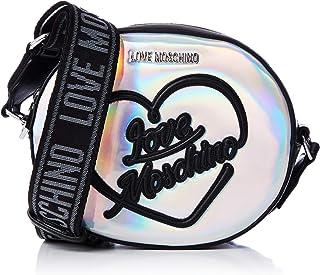 Love Moschino 女士 Jc4019pp1a 背包手提包,银色(Argento),10x23x27 厘米