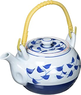 吴须唐草 4号 茶壶 茶壶 陶器 带滤茶器