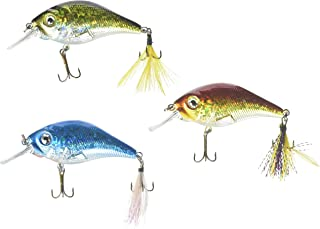 Akuna Pack of 3 Glittertail Series 3 inch Shallow Diving Fishing Lure