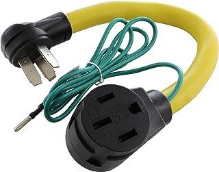 AC WORKS RV/EV 14-50R 50 安培适配器 3-Prong 50A Range Outlet to 50A RV/ EV RV10501450-018