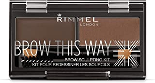 Rimmel Brow This Way Sculpting Kit, Dark Brown, 0.04 Ounce