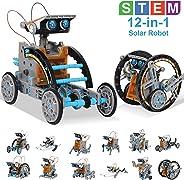 HOMOFY STEM 玩具太阳能机器人套装 12 合 1 教育科学套装玩具|学习科学积木玩具-由 Solar|STEM Toys 机器人科学套件适用于 8 9 10-12 岁儿童礼物