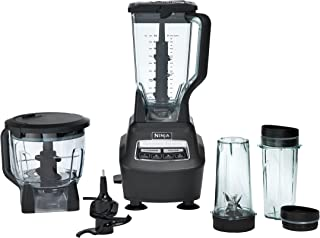 Ninja Mega Kitchen System (BL770) Blender/Food Processor with 1500W Auto-iQ Base, 72oz Pitcher, 64oz Processor Bowl, (2) 16oz Cup for Smoothies, Dough & More(需配变压器)