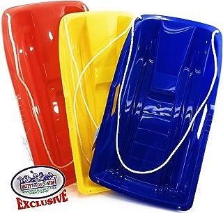 Matty's Toy Stop 66.04 厘米重型塑料雪花*草吸*机带绳儿童红、黄色和蓝色礼品套装 - 3 件装