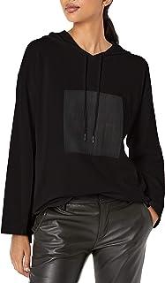A|X Armani Exchange 女士带抽绳兜帽长袖运动衫