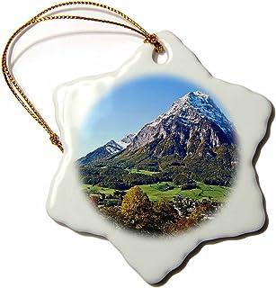 3dRose Glarus Alps,瑞士雪花装饰,3 英寸(约 7.6 厘米)