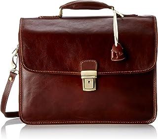 Floto Luggage Cortona Laptop Brief, Vecchio Brown, Medium