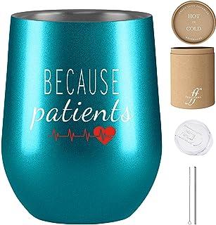 Because Patients - *礼物 - 女性*礼物 - 340.19 克不锈钢保温酒杯 - Fancyfams - *、*、*、卫生师、*的有趣礼物, 蓝*