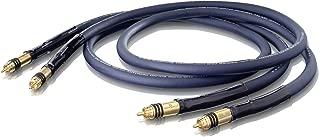 OEHLBACH XXL-1 W/11mm 超切冷金 RCA 插头,三重屏蔽对称双绞镀银铜。 2x0.5m。 颜色:深蓝色。 星数等级:5。