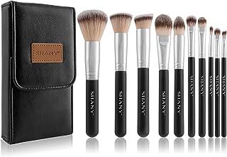 SHANY Ombre Pro 10件基础化妆刷套装 带化妆刷旅行包 黑色