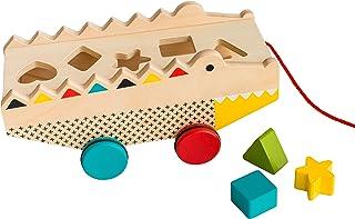 Petit Collage 鳄鱼木形状分类器和拉玩具