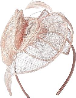 San Diego Hat Company 女士帶玫瑰花和羽毛的光源帽