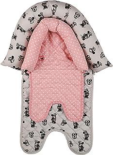 Disney 米妮老鼠女婴婴儿头托,适用于汽车座椅、婴儿车和摇椅,米妮老鼠印花,波尔卡圆点