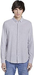 TOM TAILOR 男士衬衫,衬衫 & 衬衣 亚麻混纺衬衫