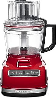 KitchenAid 廚房幫手 KFP1133CU 11 杯食品處理器,配有 ExactSlice 系統 - 輪廓銀 Empire Red 11-Cup 需配變壓器