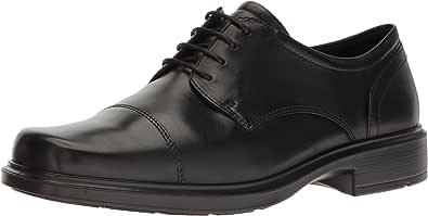 ECCO 爱步 男士 Helsinki SantiagToe 牛津休闲鞋 39 EU/5-5.5 M Oxford, Black, 46 EU/12-12.5 M US