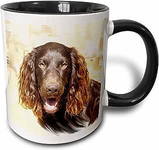 3drose 狗博伊金猎犬–博伊金猎犬–马克杯 黑色/白色 11-oz Two-Tone Black Mug