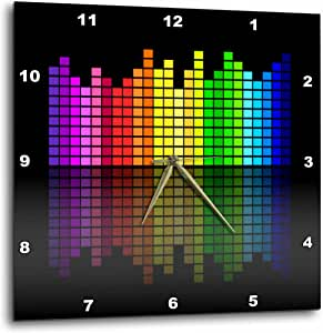 DPP 38907florene 音乐–粉色红色绿色黄色蓝色音乐 equalizer ON black–壁挂钟
